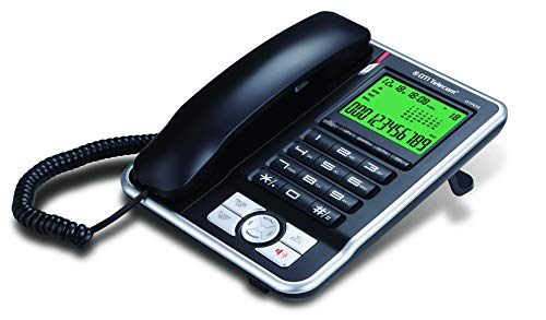DTI DTP035 Big-Button Corded Phone with Caller ID, Speakerphone, Hands-Free Dialing and Speaking...