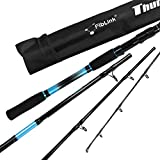 Fiblink 4-Piece 7-Feet Carbon Fiber Fishing Rod Spinning & Casting Travel Portable Rod Lightweight Sensitive Tournament Quality Fishing Pole for Fresh & Saltwater(Spinning-Blue-MH)