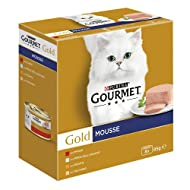 Purina Gourmet Gold Wet Cat Mousse with Fish with Liver with Turkey and Delicious Beef - 96 Cans of ...