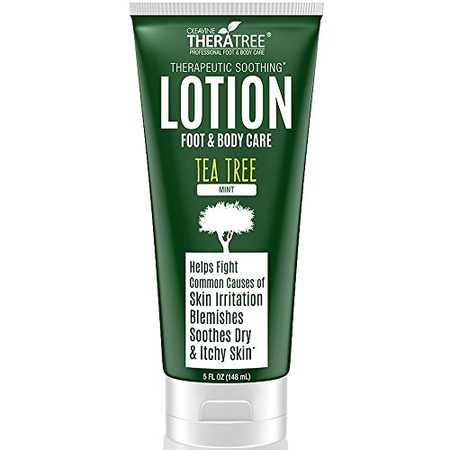 Tea Tree Oil Lotion with Neem Oil for Foot & Body - Helps Fight Common Causes of Skin Irritation and Body Odor - by Oleavine TheraTree