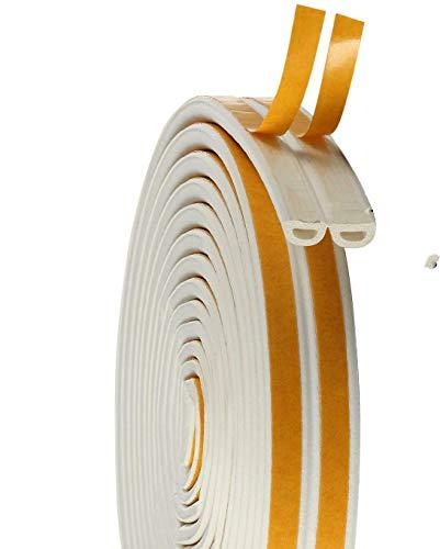 隙間テープ ドア すきま風防止 防音パッキン 引き戸 窓 扉 玄関用すきまテープ 虫塵すき間侵入防止シールテープ エアコン効率アップ (3m x 2本)( ホワイト)