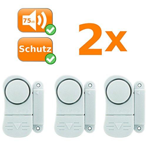 6er Set Mini Alarmanlagen, sichert Fenster und Türen, Alarmauslösung durch Magnetkontakt, kabellos
