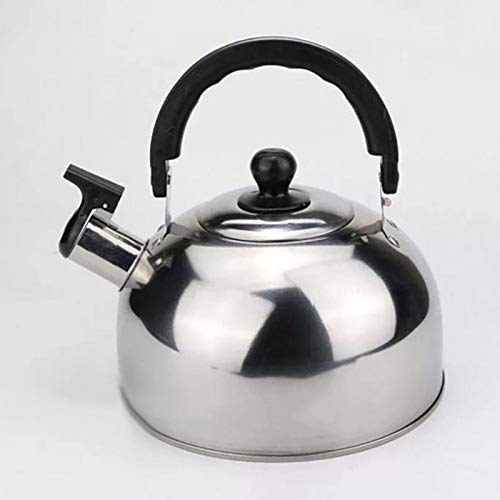 Hervidor Acero Inoxidable Plata Whistling Kettle Electric Stove Gas Hob Camping Boat