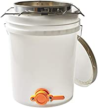5 Gallon Honey Bucket Made with Food Grade Transparent Plastic with Bottling Valve and Stainless Steel Double Honey Strainer with Course and Fine Metal Filter