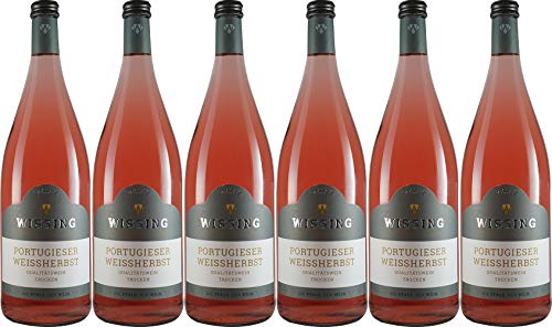 Weinkellerei Emil Wissing Portugieser Weißherbst 1L 2019 Trocken (6 x 1.0 l)