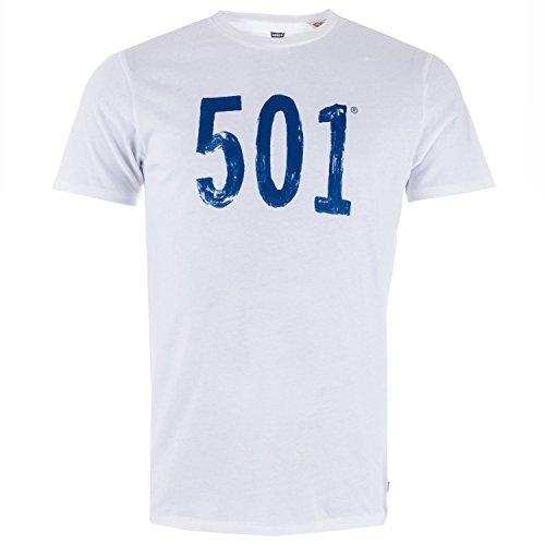 T-Shirt Levis – Graphic Setin Neck 501 Paint bianco formato: L (Large)