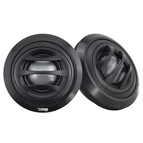 DS18 EXL-TW2.5 Tweeter 1-inch Extremely Loud Series 100 Watts Max Silk Dome Ferrite Tweeter Ferro Fluid Sound Quality - Set of 2 (Black)