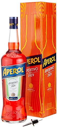 Aperol Aperitivo mit Flaschenausgießer mit Geschenkverpackung (1 x 3 l)