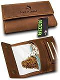 Tabaktasche 'Taruk' – Premium Tabak-Beutel aus Leder – Dreher-Tasche mit Magnetverschluss, Filterfach und Double Blättchen-Halter – Danish Whiskey