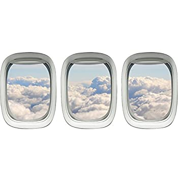 Aviation Decals Airplane Window Sticker Clouds Wall Art VWAQ-PPW13