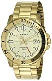 Casio MTP-VD01G-9EV Men's Enticer Gold Tone Stainless Steel Gold Dial Casual Analog Sporty Watch