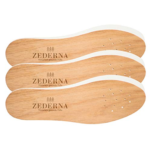 Zederna Cedar Wood Shoe Insoles, Inserts Made of...