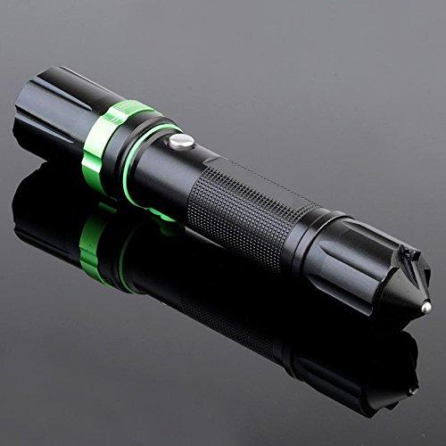 Jia & He Wang Mini Zoom, potente batería de largo alcance LED linterna con seguridad martillo de Salvamento