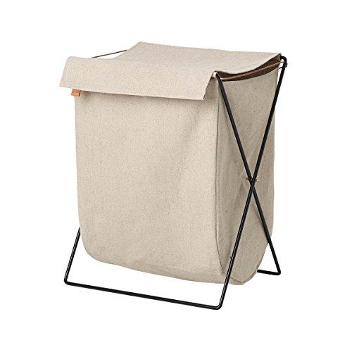 Ferm Living Wäschekorb, Baumwollsegeltuch, Sand, B: 50 x H: 65 x T: 40 cm