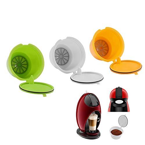 Viitech Cápsulas de café, cápsulas reutilizables reutilizables, 3 piezas de tazas