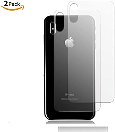SHOPKART Round Curved Edge-Edge Tempered Glass for iPhone X (Transparent) - Pack of 2