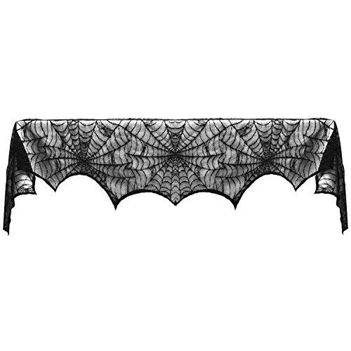 Beetest® - Tovaglia di Halloween,Nera Decorazione Ragnatela Tovaglia di Terrore BAR/Ristorante per Festa di Halloween/Carnevale 188 x 90cm (Zragno)