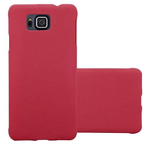 Cadorabo Custodia per Samsung Galaxy Alpha in Frosty Rosso - Rigida Cover Protettiva Sottile con Bordo Protezione - Back Hard Case Ultra Slim Bumper Antiurto Guscio Plastica