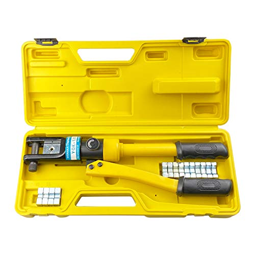 HFS (R) Hydraulic Wire Terminal Crimper Battery Cable Lug Crimping Tool W/dies Wire Crimping Tool (12T)