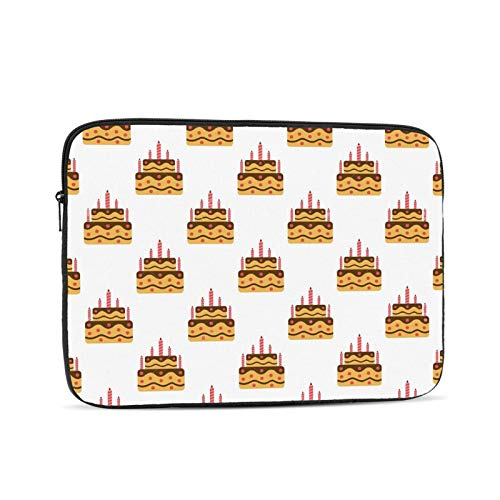 Birthday Cake Laptop Sleeve 10 inch, Shock Resistant Notebook Briefcase, Computer Protective Bag, Tablet Carrying Case for MacBook Pro/MacBook Air/Asus/Dell/Lenovo/Hp/Samsung/Sony