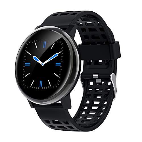 Relojes inteligentes para hombres y mujeres, reloj con monitor de sueño, pantalla táctil completa de 1.3 ', podómetro a prueba de agua IP67, reloj inteligente para teléfonos Android y teléfonos iOS