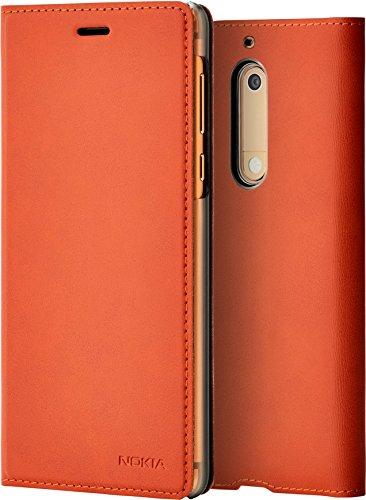 Nokia 1A21ML100VA Slim Flip Hülle CP-302 für Nokia 5 braun kupfer
