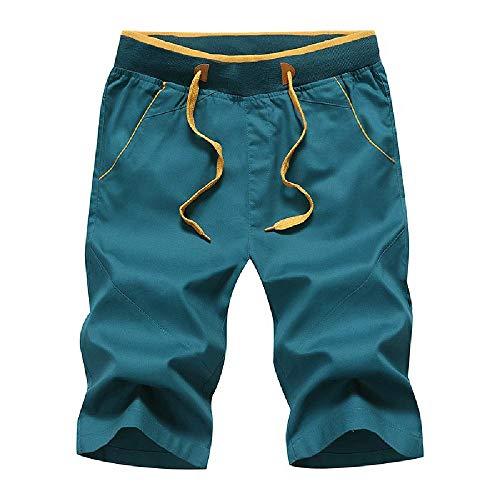 Pantalones Cortos de Verano 2020 para Hombre Pantalones Casuales de algodón...
