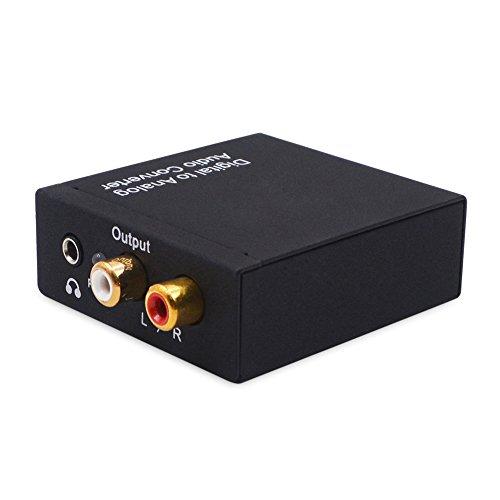 Haude - Convertidor digital a analógico DAC Digital SPDIF Toslink a analógico...
