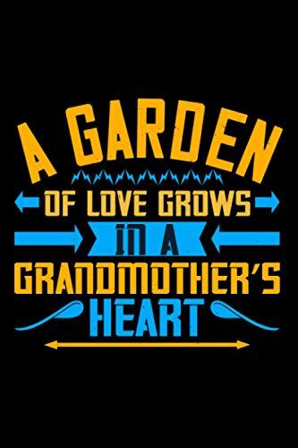 Notizbuch a grandma's heart is a patchwork of love: Opa Notizbuch 120 linierte Seiten A5 tolles Opa Geschenk