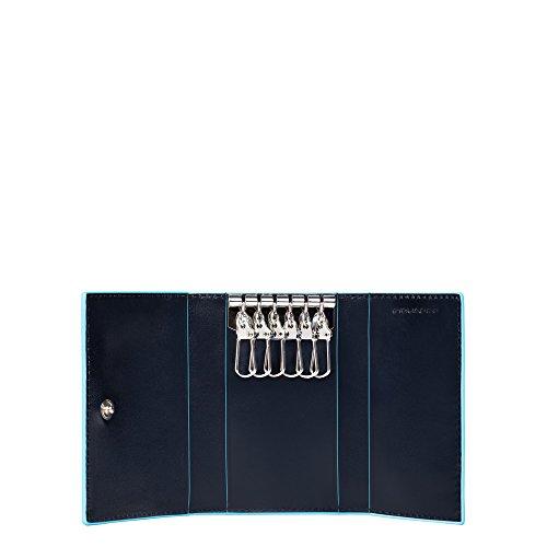 Piquadro PC1396B2/BLU2 Blue Square Porta, Blu, 10 cm