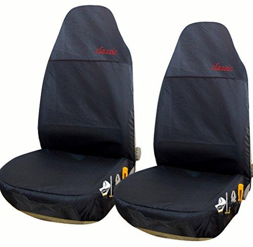 EUGAD 0113QCZT-2 2er Auto Sitzbezüge Einzelbezug Werkstattschoner Sitzschoner Rot