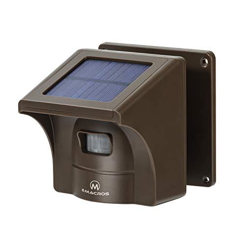 eMACROS 1/2 Mile Supplemental Driveway Alarms Wireless Outside Solar Sensor