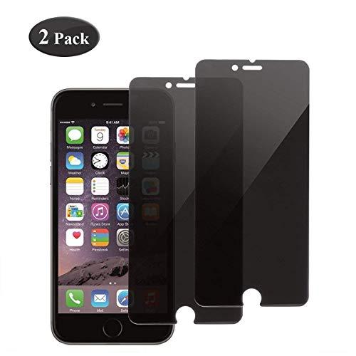 Seomusen Protector de Pantalla Privacidad Compatible con iPhone 6/7/8 [2 Piezas],Anti espía Cristal Templado iPhone 6/7/8 -Anti-Burbujas,9H Dureza,Anti-despegamientos,Anti-arañazos,Ultra-Transparente