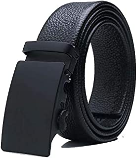 Leather Belt for Men, Automatic buckle leather belt, Soft Genuine Belts for Business Casual Jeans Dress/110-130cm