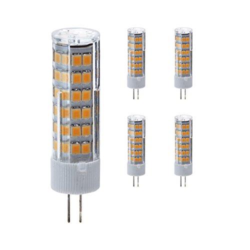 g4 led 230V Stiftsockellampe dimmbar kaltweiß, 5er Pack, 7W Ersetzt 50W leuchtmittel,500lm,6500k,COB,LED Lampen,Stiftlampe. >Bitte Beachten< 230V Leuchtmittel nicht geeignet für 12V Trafo Lampen