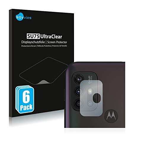 Savvies 6X Schutzfolie kompatibel mit Motorola Moto G30 (NUR Kamera) Bildschirmschutz-Folie Ultra-transparent
