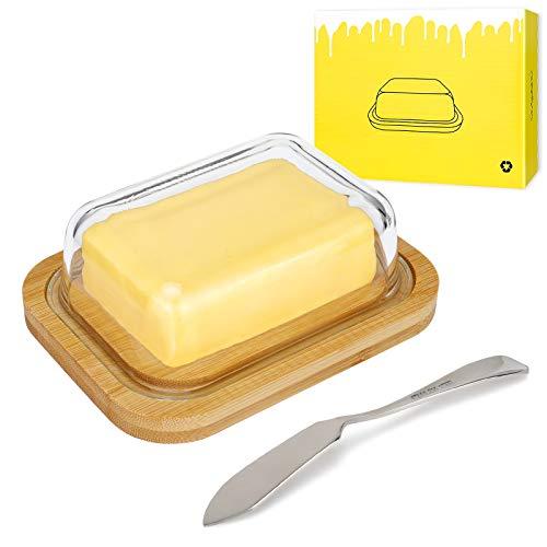 AngLink Butterdose aus Glas mit...