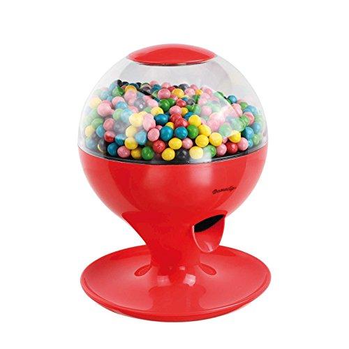 Süßigkeitenspender Süßigkeitenautomat Bonbon Spender Kaugummi Automat mit Bewegungssensor (Batterie Betrieb, Abnehmbarer Deckel, Rot)