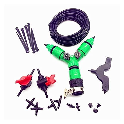 ZHANGMEI YMQ Store Kit de riego de jardín de Plantas 142pcs 30m 4 / 7mm Contacto con Manguera con Tap Fast Interface Manguera del Soporte de la Manguera Puncher Thip tee (Color : Black)