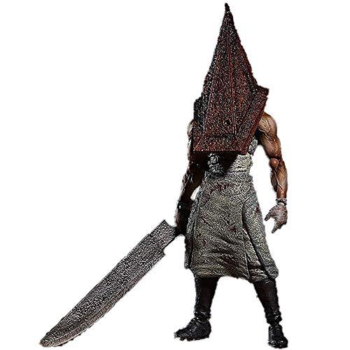 YXCC Dreieckskopf-Actionfigur Silent Hill Anime Charakter Statue Bewegliche Statue des roten Pyramidenkopfgelenks