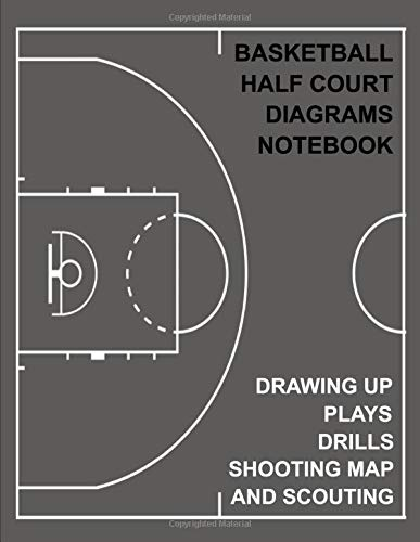 Basketball Half Court Diagrams for Drawing Up Plays, Drills, Shooting Map and Scouting: BLANK BASKETBALL HALF COURT   102 pages, 8.5x11 inches   Gift for Basketball Coach