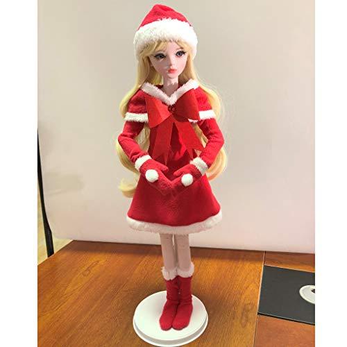 FLAMEER Schönes Puppe Weihnachten Kostüm Festkleidung Für 1/3 BJD weibliche Puppen Zubehör - C