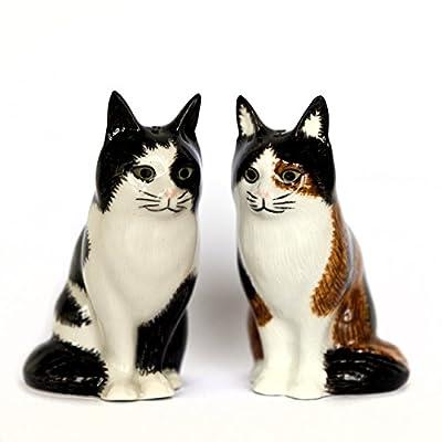 Quail Ceramics Poppet & Oliver Cat Salt & Pepper Pots by Quail