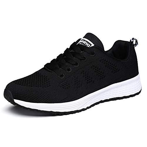 XPERSISTENCE Sport Tennisschuhe Herren Damen Laufschuhe Sneakers Turnschuhe Fitness Gym Leichtes Bequem Schuhe (Schwarz 39 EU)