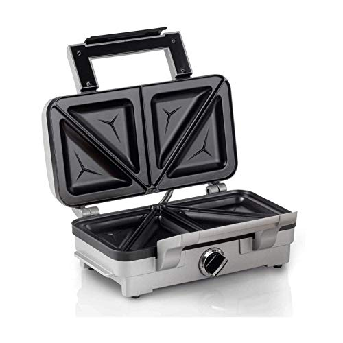 AJH Plato para gofres Multifuncional Sandwichera de 1200 W, Sandwichera 3 en 1, Máquina para Hacer gofres Cool Touch, Gancho de Cierre para Placa tostadora, Indicadores LED