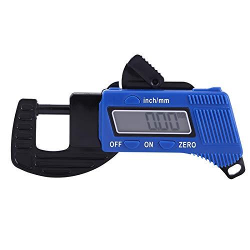 Medidor de espesor digital, 0-12 mm Calibradores de calibre de espesor con pantalla digital, Medida de ancho Herramienta de medición micrométrica para papel, cuero PU, chapa, joyería