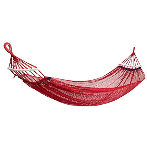 UWY Recreación Hamaca de Seda de Hielo Malla para Exteriores Hamaca antivuelco para Acampar al Aire Libre El jardín Puede soportar un Peso de 150 kg Regalos para Excursionistas (Color: Rojo)