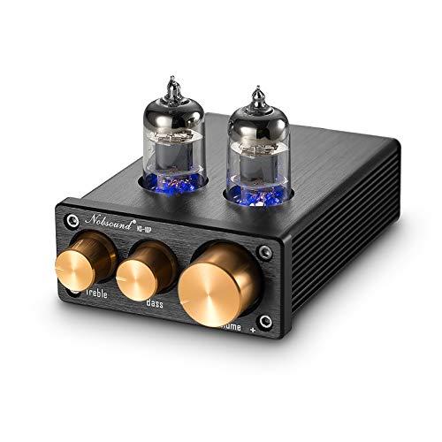 Nobsound NS-10P Mini Vacuun Tube Preamp Audio Hi-Fi Stereo Pre-Amplifier Treble & Bass Control (Preamp)