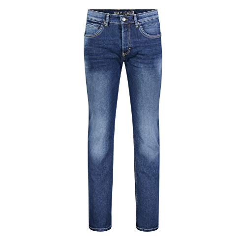 MAC Jeans Herren Arne Pipe Straight Jeans, Heavy Authentic Used H663, W31/L32