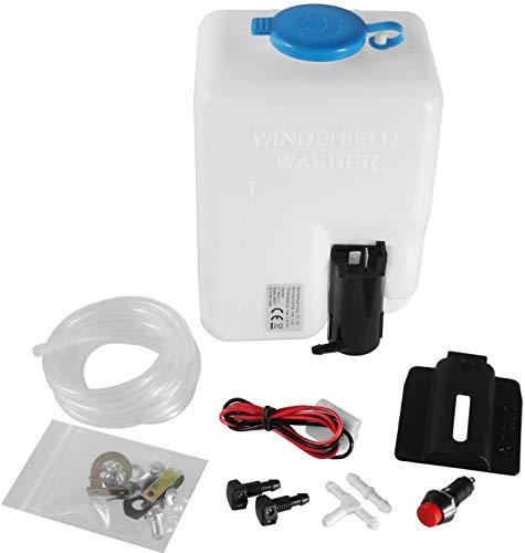 Universal Scheibenwaschbehälter 1,5L Scheiben Waschanlage Wasser Behälter Pumpe
